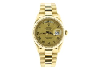 Rolex Mens Rolex 18K Gold Day-Date President Champagne Roman 18038
