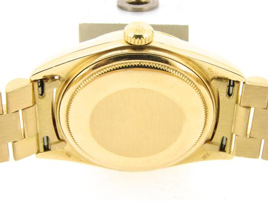 Rolex Mens Rolex 18K Gold Day-Date President Champagne Roman 18038 Image 8