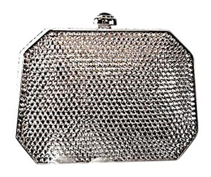 Judith Leiber Night Out Crystals Silver Clutch