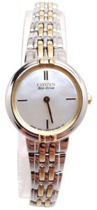 Citizen Eco-Drive EX1094-51D Silhouette Two Tone Mother Pearl Watch BROKEN!!!