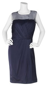 Andrew Gn Gn Cocktail Pleated Silk Dress