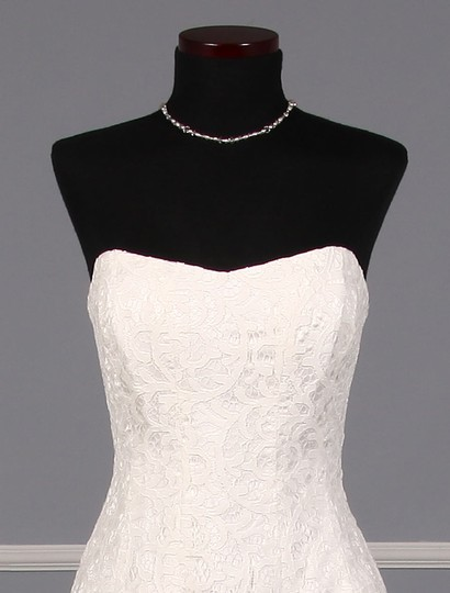 Nicole Miller Ivory Coral Swirl Lace Mirabell Bt10022 Formal Wedding Dress Size 4 (S) Image 2