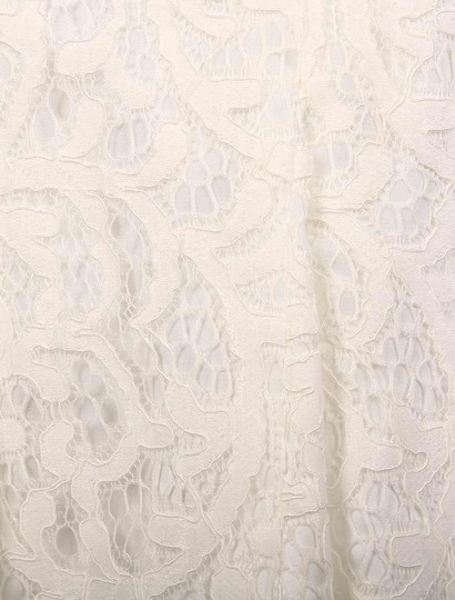 Nicole Miller Ivory Coral Swirl Lace Mirabell Bt10022 Formal Wedding Dress Size 4 (S) Image 7