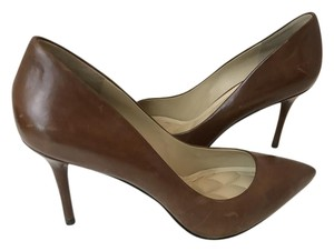 B Brian Atwood Never Worn Louboutin Chanel brown Platforms