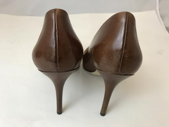 B Brian Atwood Never Worn Louboutin Chanel brown Platforms Image 4