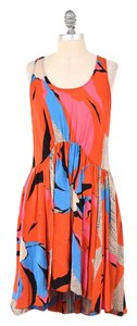 Anthropologie short dress Vibrant Abstract Floral Dropped Waist Sleeveless on Tradesy