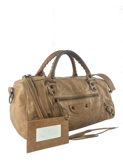 Balenciaga Satchel in Light Brown Image 2