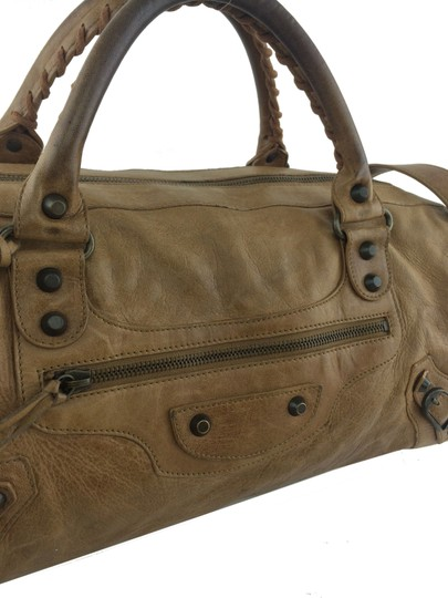 Balenciaga Satchel in Light Brown Image 7