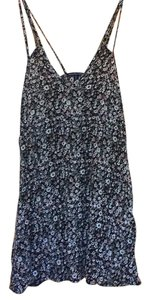 American Eagle Outfitters short dress black with flowers on Tradesy