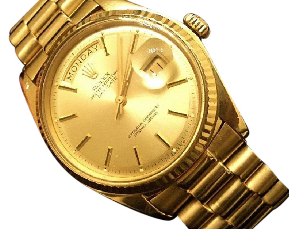 Rolex Gold Mens 18k Day,date President Champagne 1803 Watch 56% off retail