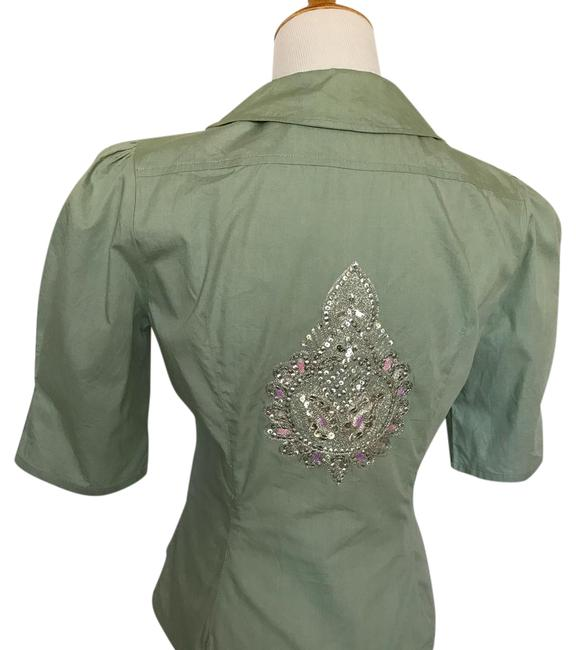 Item - Green Rn 110730 Blouse Size 6 (S)
