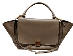 Céline Beige Trapeze Tan Leather Shoulder Bag