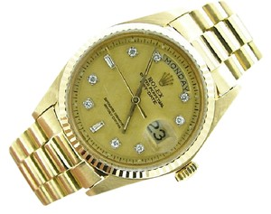 Rolex Mens Rolex 18K Gold Day-Date President Champagne Diamond 1803