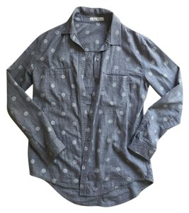 Hinge Flannel Polka Dot Button Down Shirt Heather Grey