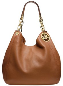 Michael Kors 30h3gfte3l Fulton Mk Leather Shoulder Bag