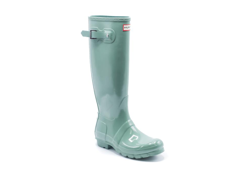 b5b5caf87869a3 Hunter Green Women s Tall Gloss Rain Boots Booties Size US 5 Regular ...