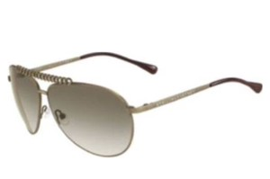 Stella McCartney Antiqued Gold Chain Modern Aviator Sunglasses