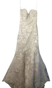 Essense Of Australia Lace Over Satin Fitte. Wedding Dress