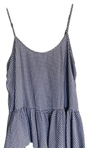 Old Navy Top blue and white checker