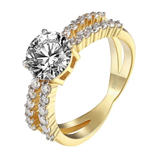 Preload https://img-static.tradesy.com/item/21300989/yellow-gold-925-sterling-silver-wedding-engagement-solitaire-cz-diamonds-ring-0-0-540-540.jpg