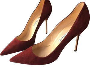 Manolo Blahnik Wine Pumps