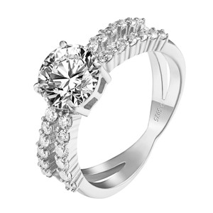Other Solitaire Womens Wedding Ring Engagement Bridal Promise Infinity Band