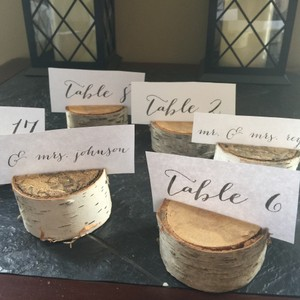 Birch Wooden Name Cards Place Holders