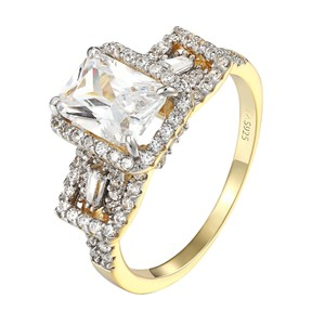Other Princess Cut Wedding Ring 4 Solitaire Lab Diamonds 925 Sterling Silver