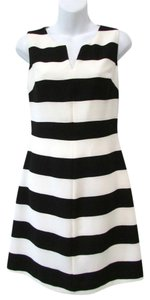 Banana Republic short dress Black/Off White Striped A-line Summer on Tradesy
