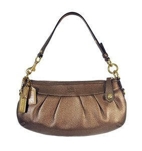 Coach Metallic Pebbled Leather Pleated Very Rare Party Shoulder Bag