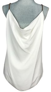 Yigal Azrouël Leather Color-blocking Braided Top White/Purple