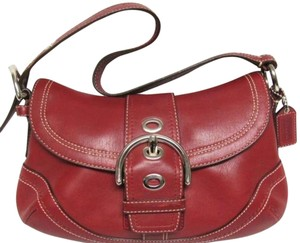 Coach Red Leather Soho Style F 10909 Hobo Bag