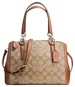 Coach Christie Crossbody Swingpack Signature Satchel in Saddle/khaki
