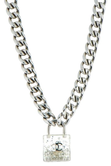 Chanel Clear Padlock Lock Necklace Tradesy