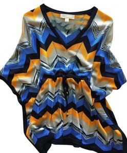 Michael Kors Top Chevron print / light blue,navy,mustard yellow, white