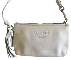 Coach Leather Tassels Wristlet in White-ish