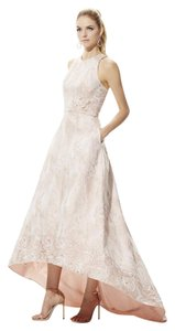 Theia Hi Lo Jacquard Ball Gown Evening Dress