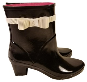 Kate Spade Bow Rain Wellies Black Boots