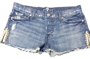 7 For All Mankind Denim Shorts-Medium Wash