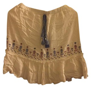 Love, Fire Skirt ivory with burgundy and blue