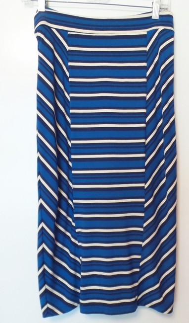 Blue, black, off-white Maxi Dress by Anthropologie Knit Sleeveless Strapless Cover Up Image 3