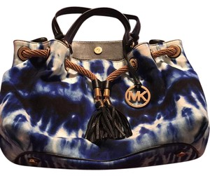 Michael Kors Satchel in Blue and White