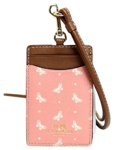 Coach NEW COACH butterfiy Card Case employee I.D Tag holder Lanyard Badge