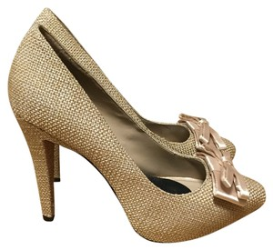 Paris Hilton Beige Bows Pumps