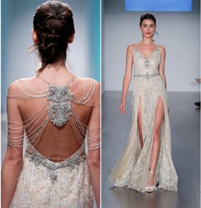 Alvina Valenta Champagne Runway (Never Re-created) Sexy Wedding Dress Size OS (one size)