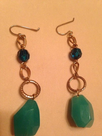 Other Gold And Turquoise Colored Stone Earrings