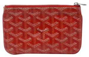 Goyard Goyard Vivid Red Signature Leather Hand Painted Monogram Coin Pouch