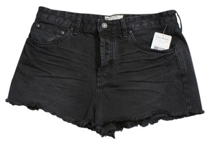 Free People Cut Off Shorts Black