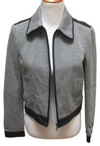 Theory black and white Leather Jacket