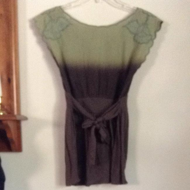 Free People T Shirt Ombre green & brown